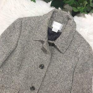 Worthington Vintage Gray Herringbone Tweed Coat